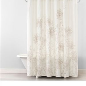 Opalhouse Floral Linework Shower Curtain NWT